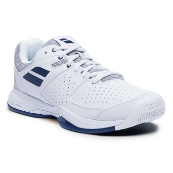 BABOLAT Pulsion All Court Tennis Shoes (White/Estate Blue)