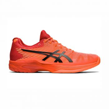 ASICS SOLUTION SPEED FF TOKYO Tennis Shoes (Sunrise Red/Eclipse Black)